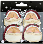 Petaloo - Dazzlers Collection - Christmas - Glittered Shapes - Vintage Santas