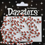 Petaloo - Dazzlers Collection - Christmas - Glittered Sticker Shapes - Candy Canes