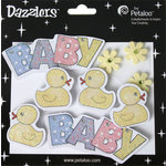Petaloo - Dazzlers Collection - Glittered Sticker Shapes - Baby - Yellow Ducks