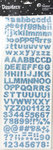 Petaloo - Dazzlers Collection - Glittered Sticker Shapes - Alphabet and Numerals - Blue
