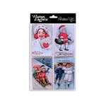 Petaloo - Vintage Dazzlers Collection - Christmas - Glittered Sticker Shapes - Children
