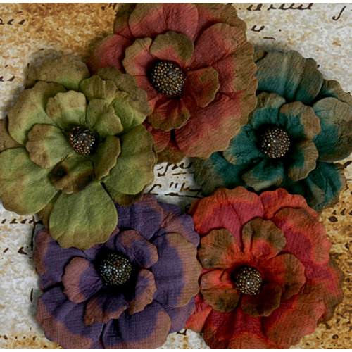 Petaloo - Darjeeling Collection - Floral Embellishments - Zinnia