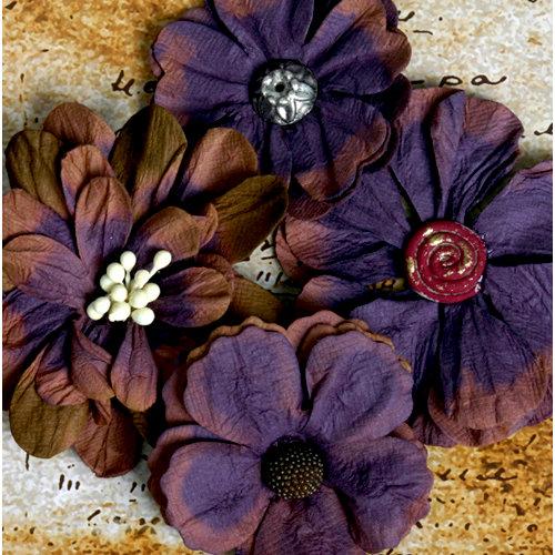 Petaloo - Darjeeling Collection - Floral Embellishments - Eggplant