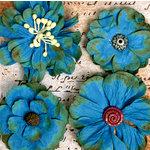 Petaloo - Darjeeling Collection - Floral Embellishments - Deep Blue