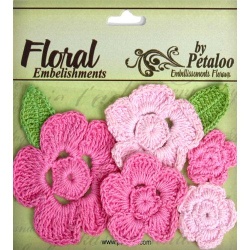 Petaloo - Devon Collection - Crocheted Flowers - Pinks