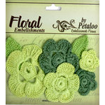 Petaloo - Devon Collection - Crocheted Flowers - Greens