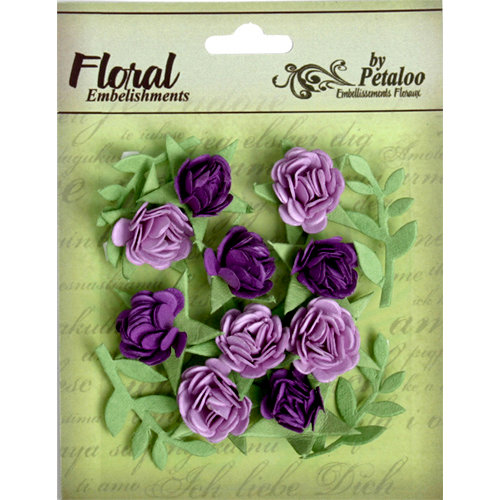 Petaloo - Devon Collection - Petites Mini Rose - Lavender and Purple