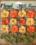 Petaloo - Darjeeling Collection - Floral Embellishments - Petites - Autumn
