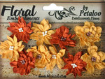 Petaloo - Darjeeling Collection - Floral Embellishments - Dahlias - Autumn