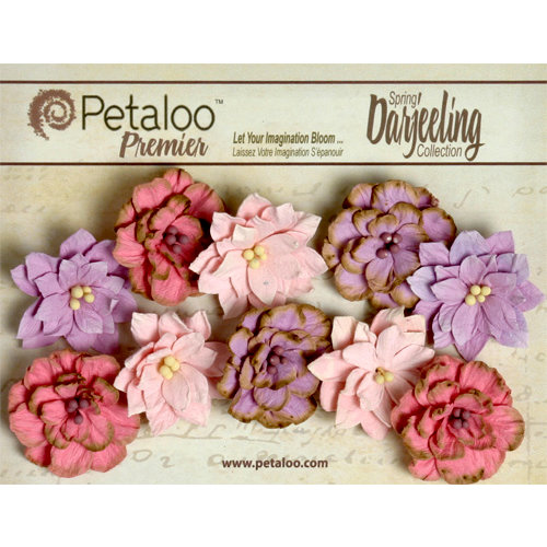 Petaloo - Darjeeling Collection - Floral Embellishments - Dahlias - Hyacinth