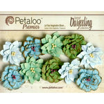 Petaloo - Darjeeling Collection - Floral Embellishments - Dahlias - Cottage Blue