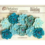 Petaloo - Darjeeling Collection - Floral Embellishments - Dahlias - Seaside
