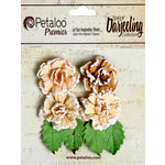 Petaloo - Darjeeling Collection - Floral Embellishments - Frosted Roses - Shabby Beige