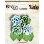 Petaloo - Darjeeling Collection - Floral Embellishments - Frosted Roses - Cottage Blue