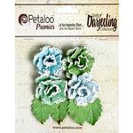 Petaloo - Darjeeling Collection - Floral Embellishments - Frosted Roses - Cottage Blue