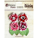 Petaloo - Darjeeling Collection - Floral Embellishments - Frosted Roses - Red Raspberry