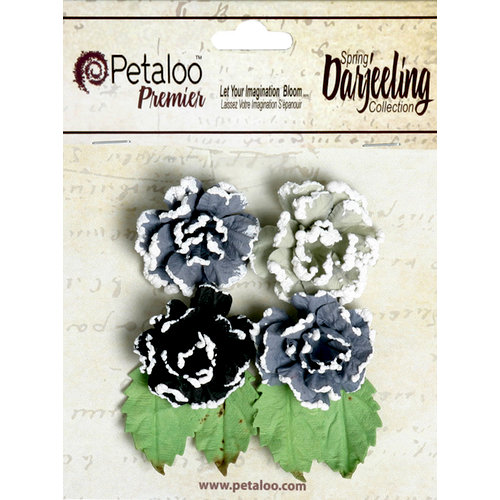 Petaloo - Darjeeling Collection - Floral Embellishments - Frosted Roses - Nightfall