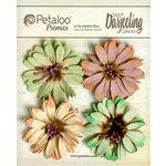 Petaloo - Darjeeling Collection - Floral Embellishments - Daisies - Pistachio