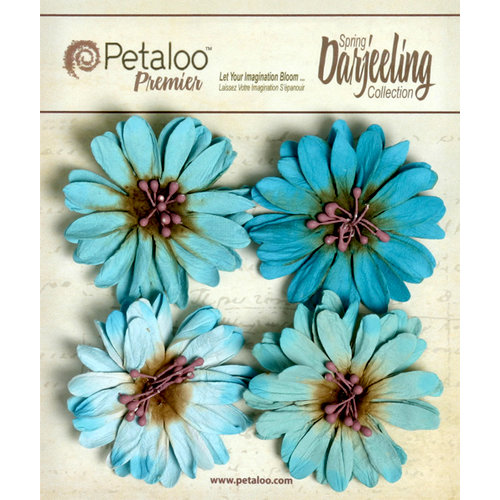 Petaloo - Darjeeling Collection - Floral Embellishments - Daisies - Seaside