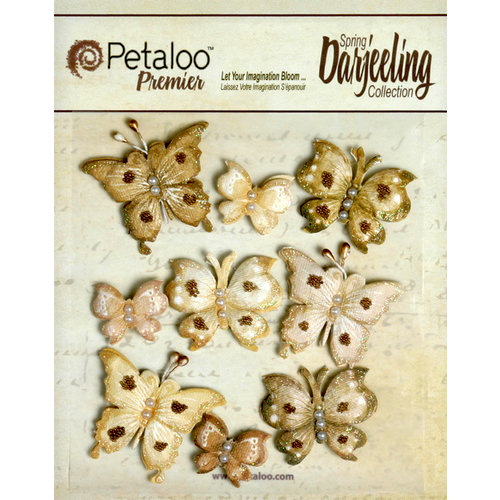 Petaloo - Darjeeling Collection - Butterflies - Shabby Beige