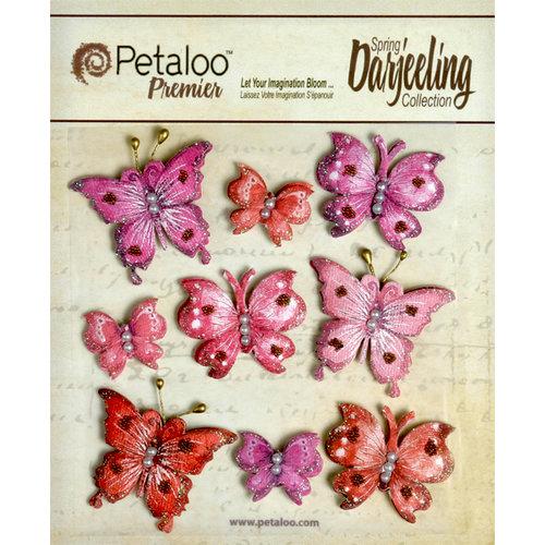 Petaloo - Darjeeling Collection - Butterflies - Red Raspberry