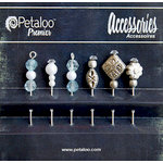 Petaloo - Darjeeling Collection - Beaded Hat Pins - Aqua