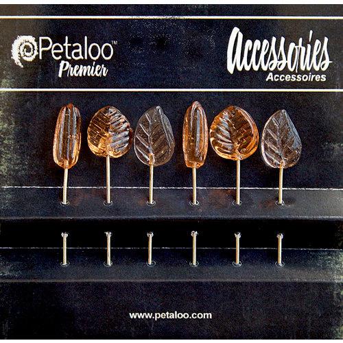Petaloo - Darjeeling Collection - Glass Ornament Pins - Peach