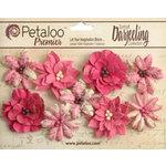 Petaloo - Printed Darjeeling Collection - Floral Embellishments - Wild Blossoms - Medium - Fuchsia