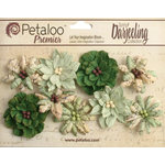 Petaloo - Printed Darjeeling Collection - Floral Embellishments - Wild Blossoms - Medium - Soft Green