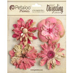 Petaloo - Printed Darjeeling Collection - Floral Embellishments - Wild Blossoms - Large - Fuchsia