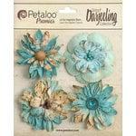 Petaloo - Printed Darjeeling Collection - Floral Embellishments - Wild Blossoms - Large - Aqua