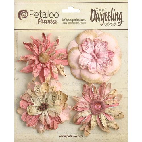Petaloo - Printed Darjeeling Collection - Floral Embellishments - Wild Blossoms - Large - Pink