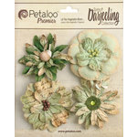 Petaloo - Printed Darjeeling Collection - Floral Embellishments - Wild Blossoms - Large - Soft Green