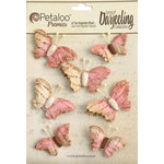 Petaloo - Printed Darjeeling Collection - Wild Butterflies - Pink