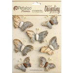 Petaloo - Printed Darjeeling Collection - Wild Butterflies - Soft Grey