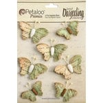 Petaloo - Printed Darjeeling Collection - Wild Butterflies - Soft Green
