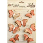 Petaloo - Printed Darjeeling Collection - Wild Butterflies - Paprika