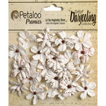 Petaloo - Printed Darjeeling Collection - Floral Embellishments - Mini - White
