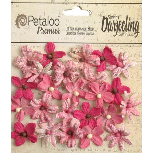 Petaloo - Printed Darjeeling Collection - Floral Embellishments - Mini - Fuchsia