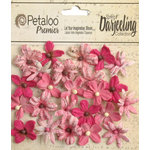 Petaloo - Printed Darjeeling Collection - Floral Embellishments - Mini - Fuchsia