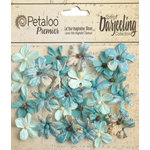 Petaloo - Printed Darjeeling Collection - Floral Embellishments - Mini - Aqua