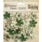Petaloo - Printed Darjeeling Collection - Floral Embellishments - Mini - Soft Green