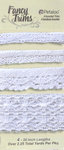 Petaloo - Printed Darjeeling Collection - Trim - Crochet Lace - White - 2.25 Yards