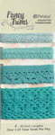 Petaloo - Printed Darjeeling Collection - Trim - Crochet Lace - Aqua - 2.25 Yards