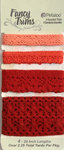 Petaloo - Printed Darjeeling Collection - Trim - Crochet Lace - Paprika - 2.25 Yards