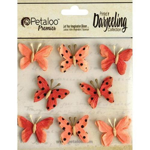 Petaloo - Printed Darjeeling Collection - Mini Butterflies - Teastained Spice