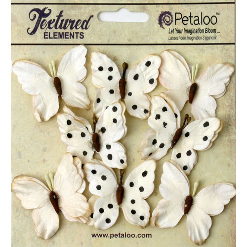 Petaloo - Darjeeling Collection - Butterflies - Teastained Cream