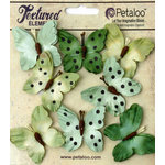 Petaloo - Darjeeling Collection - Butterflies - Teastained Greens