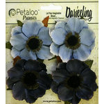Petaloo - Darjeeling Collection - Floral Embellishments - Anenome - Blue