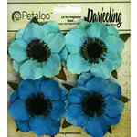 Petaloo - Darjeeling Collection - Floral Embellishments - Anenome - Teal